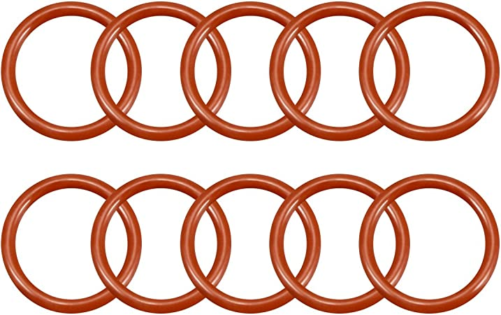 Green 30mm OD 26mm ID 2mm Width FKM Seal Gasket for Vehicle Machinery Plumbing uxcell Fluorine Rubber O-Rings Pack of 10