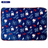 Sanrio Hello Kitty Fuwamoko blanket Navy From Japan New