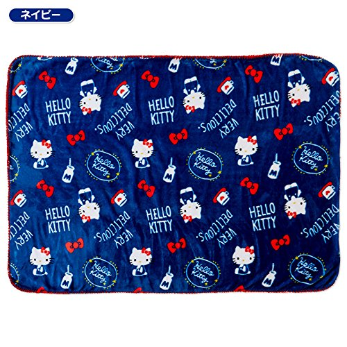 Sanrio Hello Kitty Fuwamoko blanket Navy From Japan New by SANRIO (Image #3)