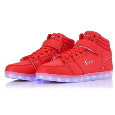 36abae1af Flashez V2 LED Sonics Red- LED Shoes Light Up Trainers for Men Womens Boys  Girls - Fully Rechargeable Glow Shoes from a UK Brand  Amazon.co.uk  Shoes    Bags