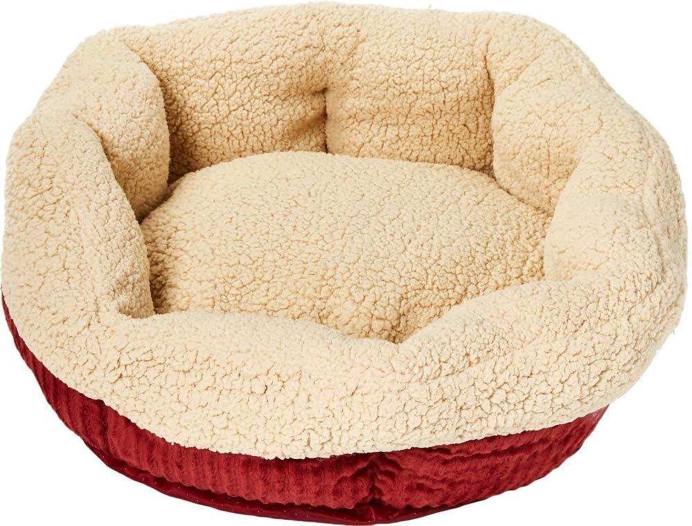 Aspen Pet Self-Warming Corduroy Pet Bed Several Shapes Assorted Colors : Pet Supplies