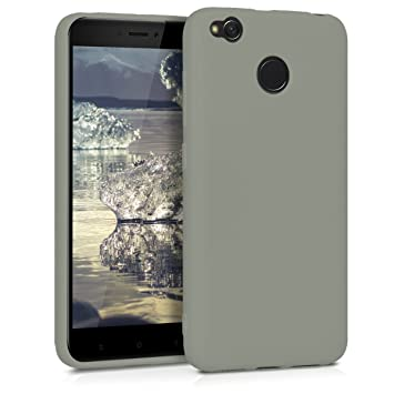 kwmobile Funda para Xiaomi Redmi 4X - Carcasa para móvil en [TPU Silicona] - Protector [Trasero] en [Verde Oliva Mate]