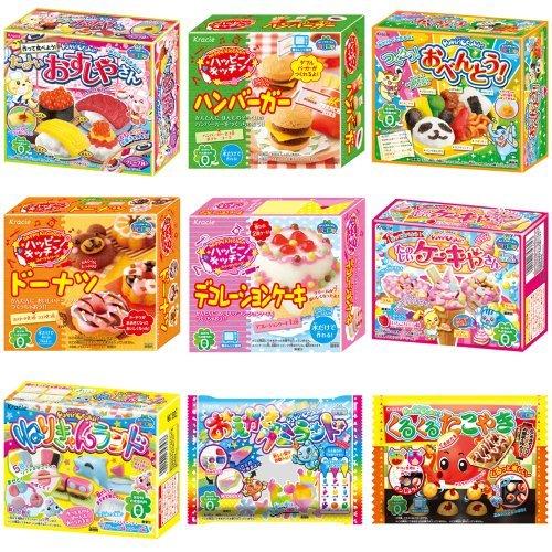 Kracie Popin Cookin 9 Item Bundle with Sushi, Hamburger, Bento, Takoyaki, Cake Shop and More