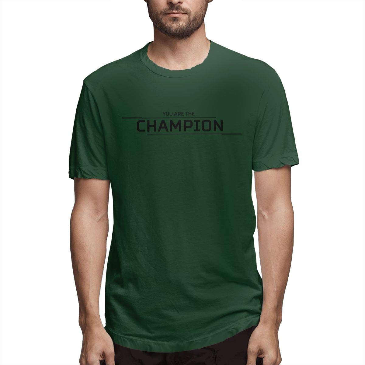 You are The Champion Mens Short Sleeve T-Shirt Short Sleeve Tshirts for Men White