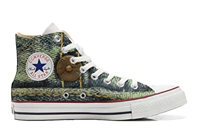 Converse Original CUSTOMIZED with printed Italian style (handmade shoes) Jeans