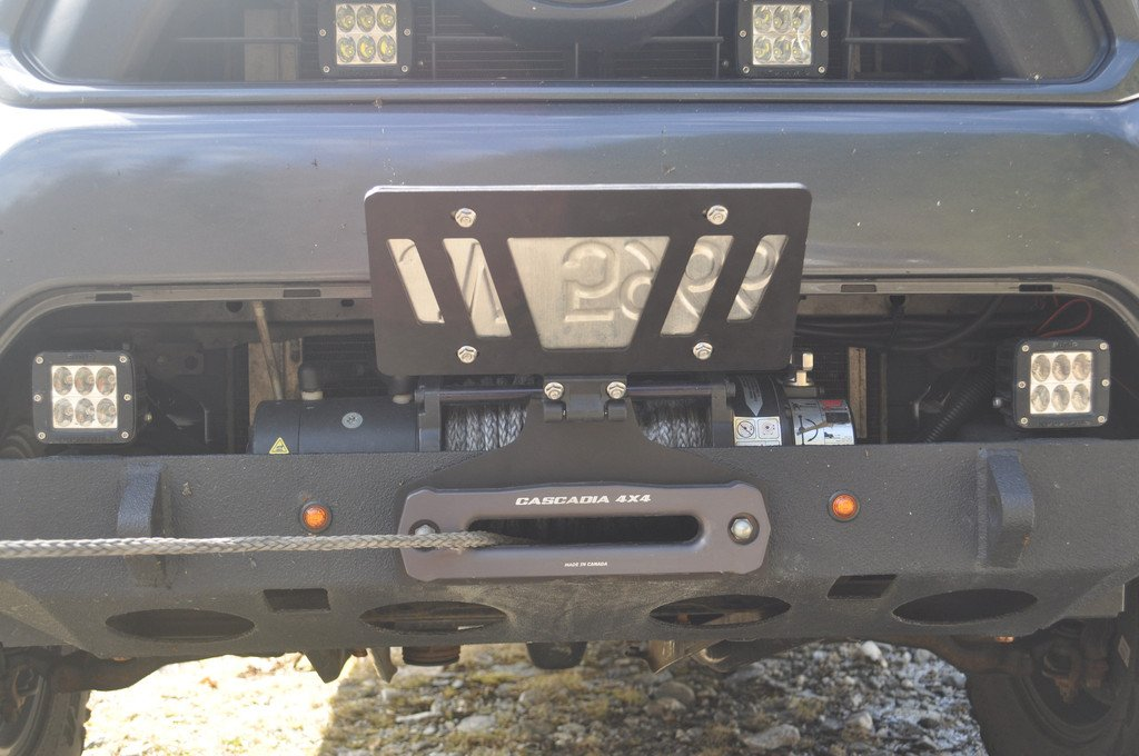 Cascadia 4x4 Flipster V2 - Winch License Plate Mounting system - Hawse/Roller fairlead compatible - Made in USA/Canada by Cascadia 4x4 (Image #8)