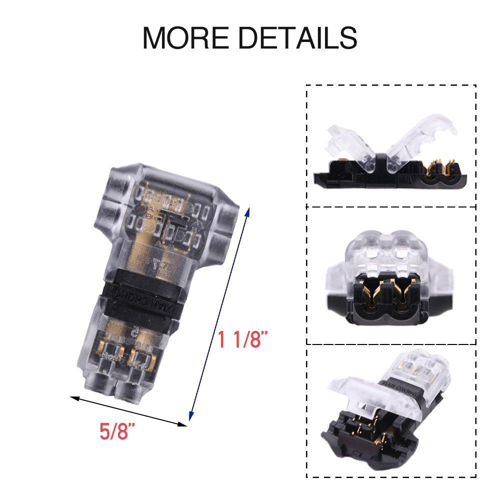 T Verbinder - Packung mit 12 Niederspannung T Hahn Kabelverbinder T ...