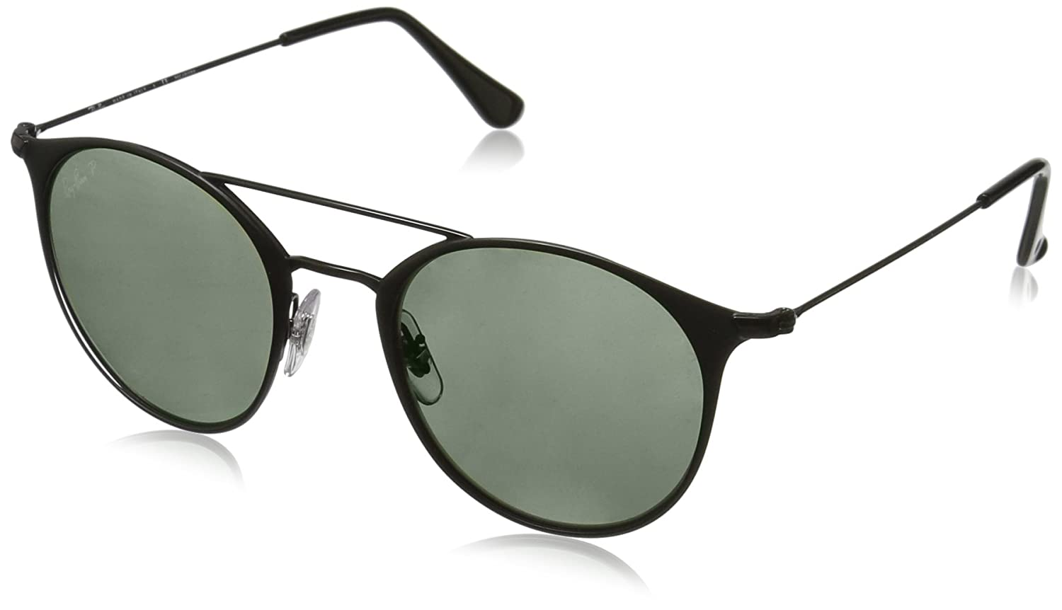 4e324ec0228 Amazon.com  Ray-Ban Steel Unisex Polarized Round Sunglasses