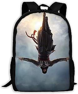 Backpack Assassin's Creed Backpack Travel Laptop Bookbag Capacity Lightweight Stationery Purse Bag for Girls Boys College School Women Men Office