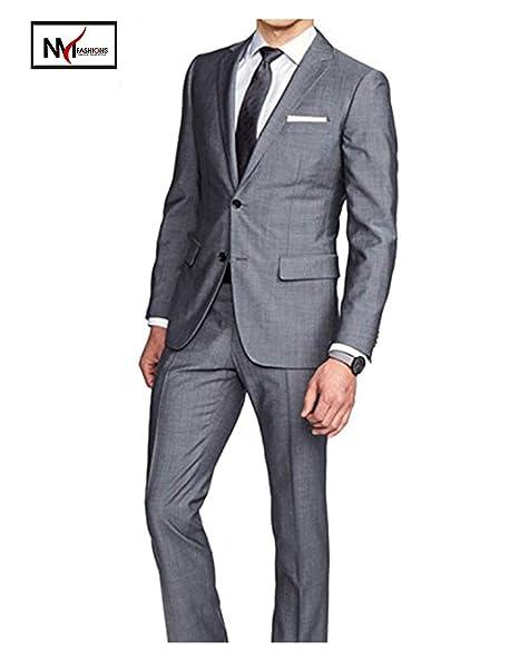Amazon.com: nmfashions Hamilton traje de gris 2 piezas de ...