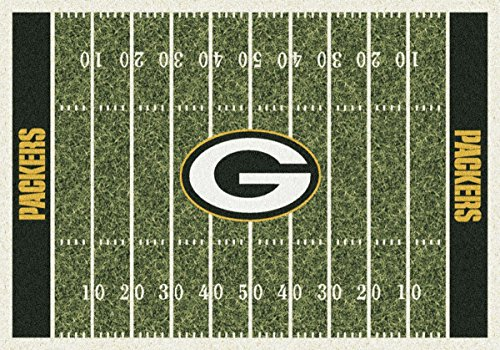 Green Bay Packers NFL Team Home Field Area Rug 3'10