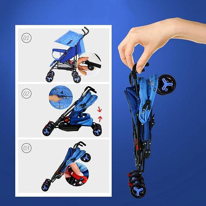 JZM Oubao Cochecito De Bebé Ultra Ligero Portátil Plegable Puede Sentarse Reclinable Niño Bebé Niño Trolley BB Paraguas De Coche,B: Amazon.es: Hogar