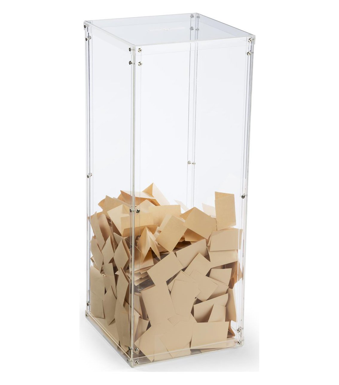 Fixture Displays Clear Plexiglass Acrylic Transparent Donation Box, Fund Raising Stand Display, Tithing Box 13192 13192!