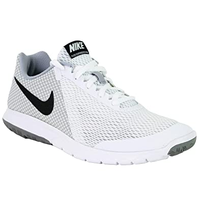 san francisco a40fa 0b650 Image Unavailable. Image not available for. Color  Nike Mens Flex  Experience RN 6 White Black Wolf Grey Size 7