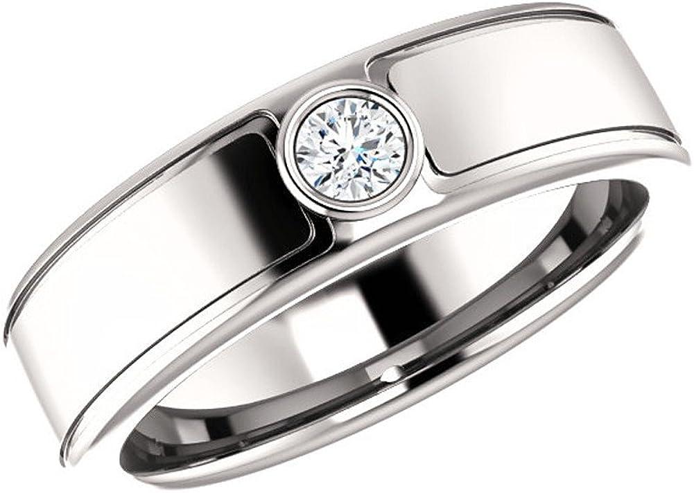 Amazon Com 0 21 Ct Ladies Round Cut Wedding Band Diamond Ring Color G Clarity Si1 Platinum Agk Diamonds Jewelry