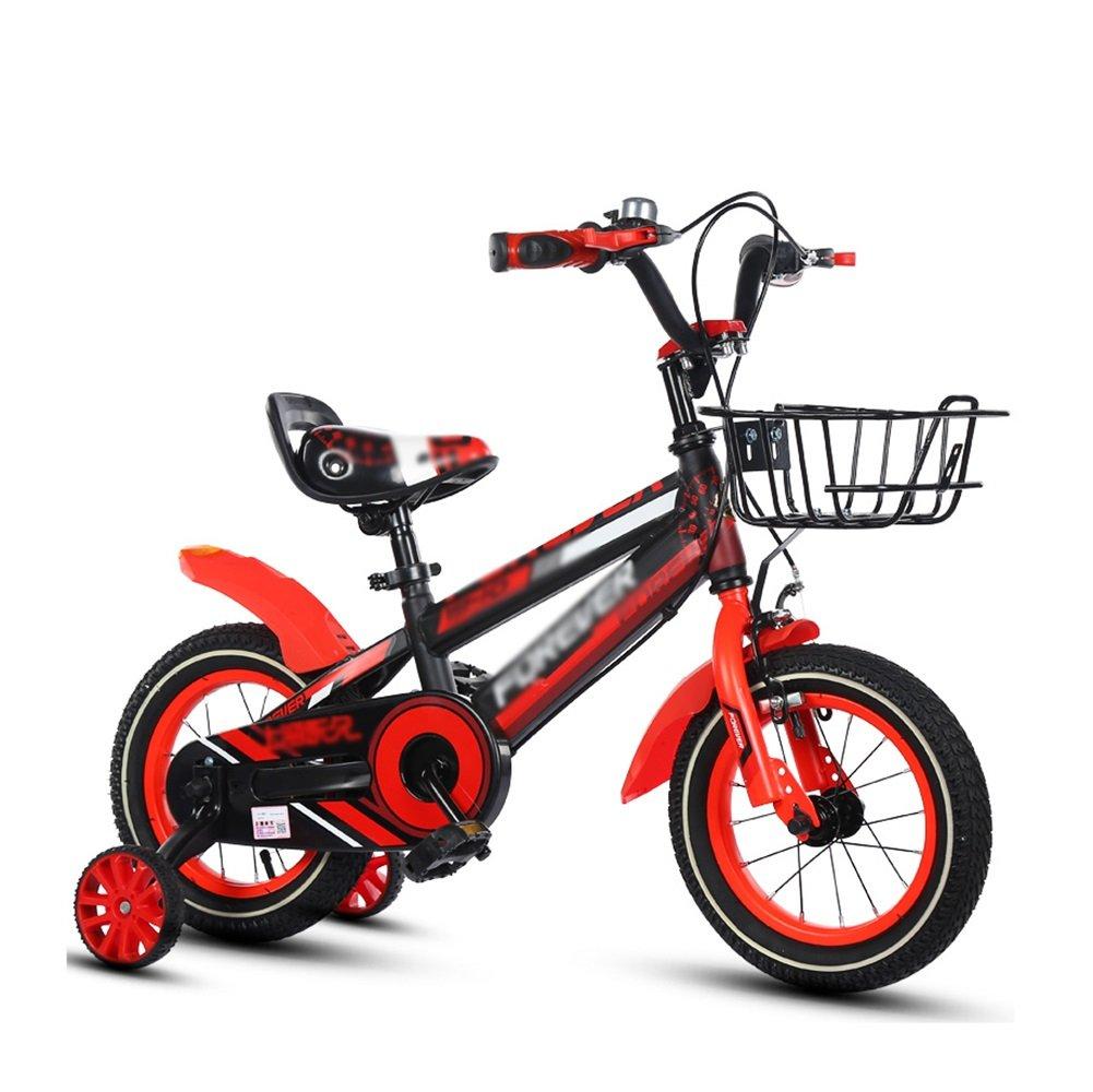 子供の自転車の男の子の自転車ペダルの自転車2-10歳の赤ちゃんの女の子の子供の自転車黄色の赤い青 B07DV5D97C 12 inch|赤 赤 12 inch