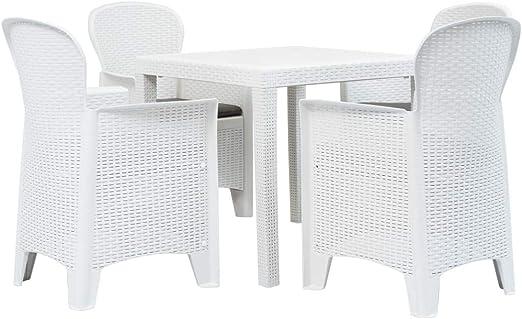Festnight Muebles de Jardin Exterior Mesa y sillas de Jardín ...