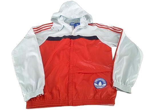 Adidas Vintage Windbreaker - Chaqueta, Hombre, Echo Blue/Poppy, Large: Amazon.es: Deportes y aire libre