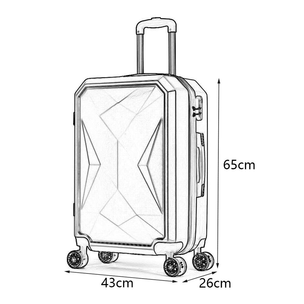 Reasonable Layout Scratch-Resistant Brushed,Stylish Waterproof and Easy to Clean Personality Universal Wheel Student Business Password Suitcase ABS//PC 3 YD Luggage Set Trolley case 4 Colors