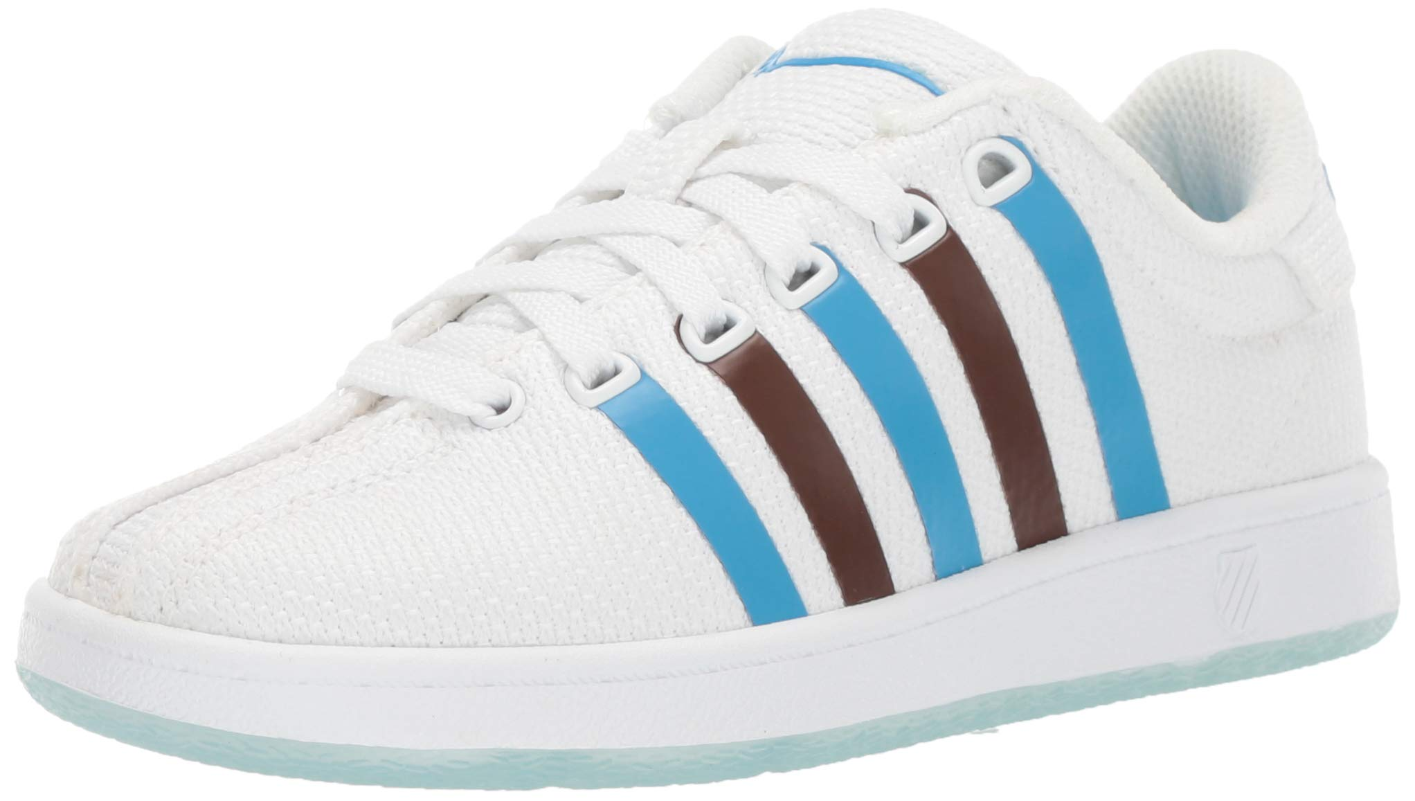 K-Swiss Unisex Classic VN Clouds and Dirt Sneaker, White-Brown-Blue, 7 M US Big Kid