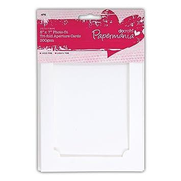 5x7 photo fit white tri fold aperture frame card blanks envelopes 5x7quot photo fit white tri fold aperture frame card blanks envelopes papermania m4hsunfo