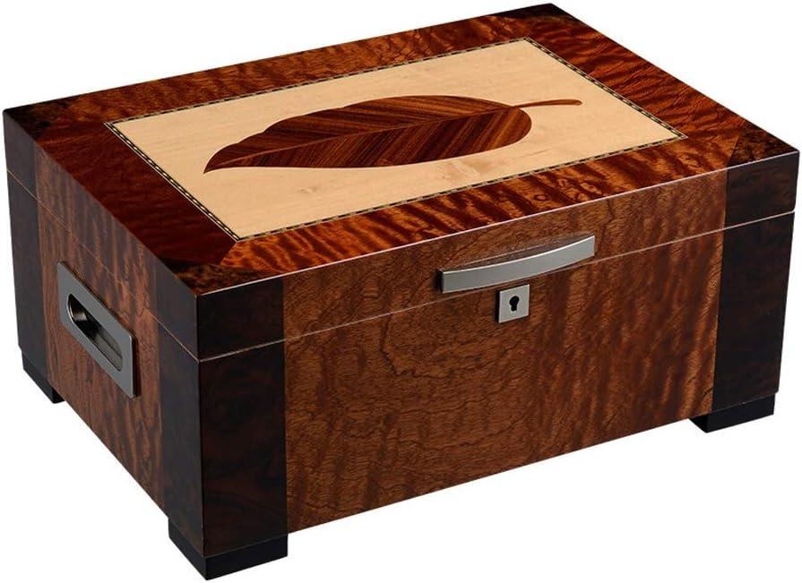 FeiGuo Caja de cigarros Humidor de Madera del Cedro Grande de la Caja de la Capacidad de Fumadores hidratante Brown Box, 380x290x160mm Caja de cigarros Premium (Size : 380x290x160mm)