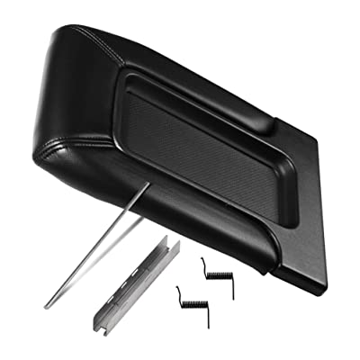 Center Console Lid Replacement Kit Black - Replaces 924-811, 19127364, 19127365, 19127366, 924-812 - Fits Chevy Silverado, Avalanche, Tahoe, Suburban, GMC Sierra, Yukon - Interior Armrest Hinge Latch: Automotive