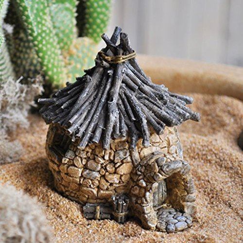 Miniature Troll Hut w/Twig Roof