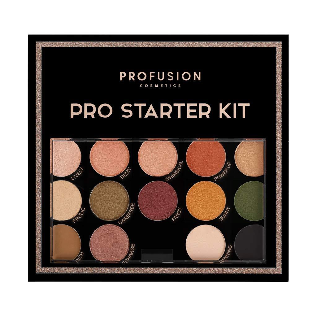 Profusion Cosmetics – Pro Starter Kit – Makeup Artist Kit Eyeshadows Lip Shades Highlighters Contour Bronzer Highlighter