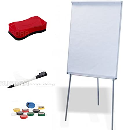 Blocks Whiteboard Magnetic Notepad cm.70x100 with Stand Markers