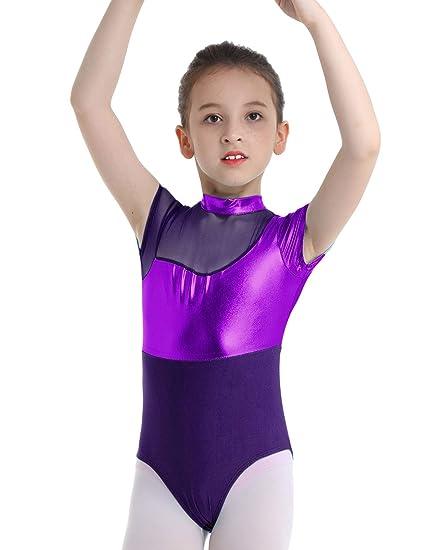 TiaoBug Maillot Ni/ña Gimnasia R/ítmica Manga Larga Lentejuelas Tut/ú Vestido Ballet El/ástico Leotardo Mono Gimnasia Patinaje Disfraz de Bailarina Body Baile