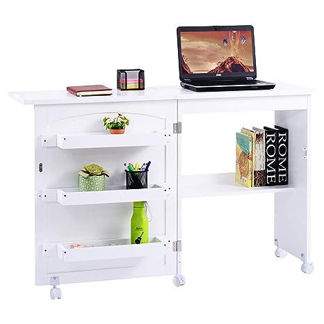 Amazon.com: giantex Mesa Plegable blanca para manualidades ...