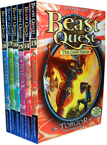 Beast Quest Series 3 Collection - 6 Books RRP £29.94 (13. Torgor the Minotaur; 14. Skor the Winged Stallion; 15. Narga the Sea Monster; 16. Kaymon the Gorgon Hound; 17. Tusk the Mighty Mammoth; 18. Sting the Scorpion Man) (Beast Quest 14)