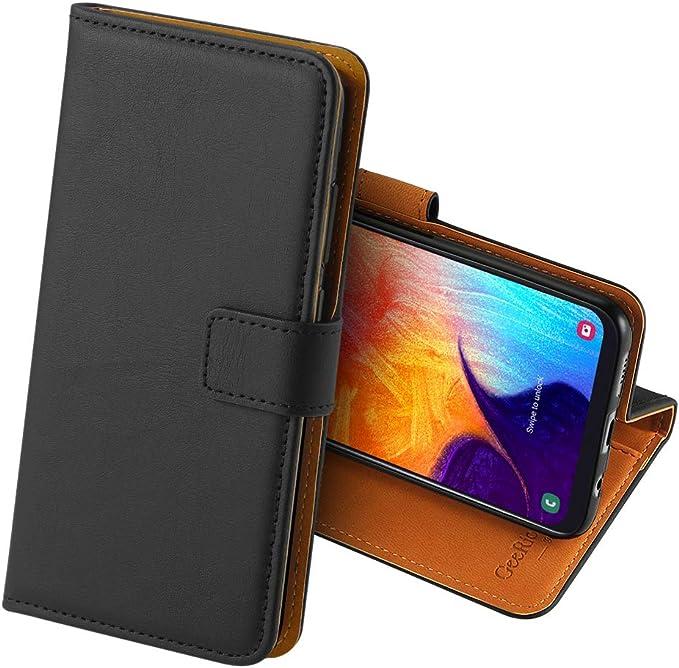 GeeRic Funda Compatible para Samsung Galaxy A50 / A30s, Función de Soporte Ranura para Tarjeta Imán Antideslizante Cuero de la PU,Libro Funda Compatible para Galaxy A50 Negro: Amazon.es: Electrónica