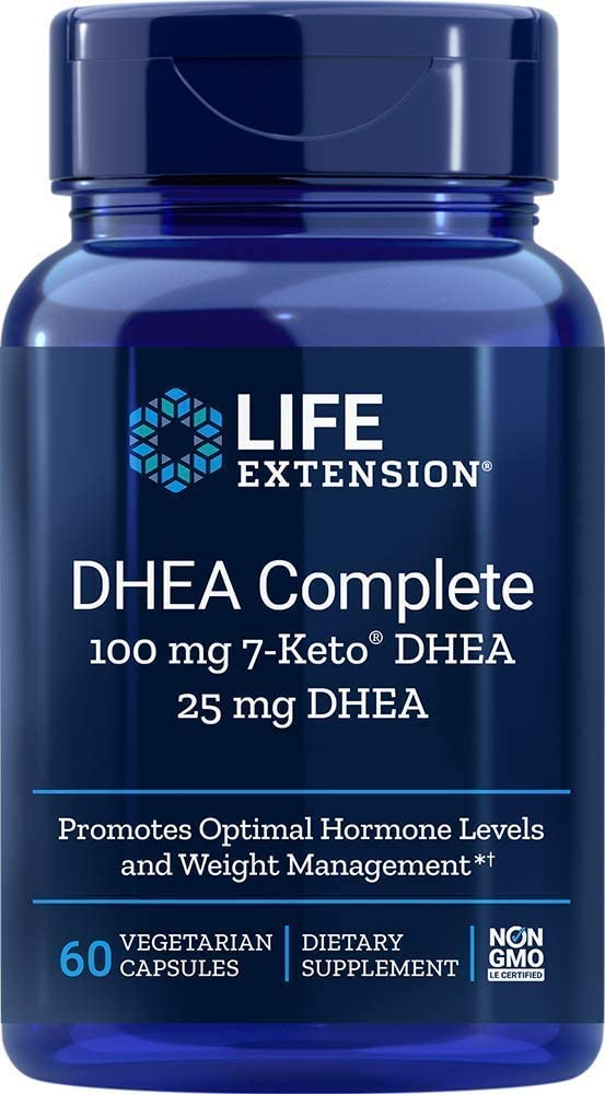 Life Extension Dhea Complete (7-Keto Dhea 100 mg and Dhea 25 mg), 60 Vegetarian Capsules: Health & Personal Care
