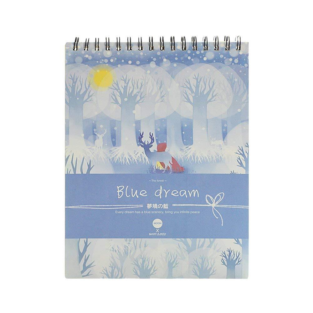 KKUR Art Blank Sketchbook Drawing Paper 8 1/2 by 11-Inch Sketchbook 100 Sheets 2#