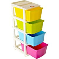 Bathla Stomo - Extra Large Multi-Purpose Modular Drawer Storage System for Home & Office with Trolley Wheels & Anti-Slip Shoes