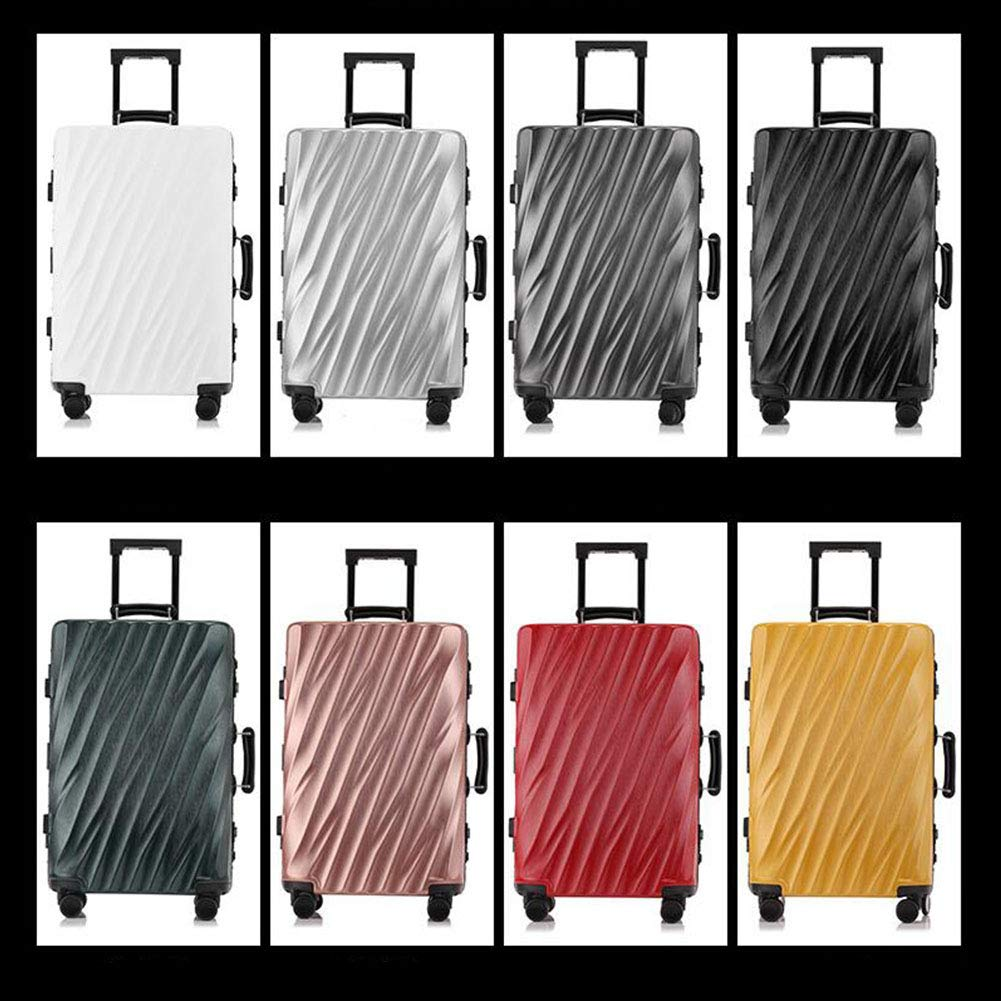 XIAOHAOHAO Trolley Case-Silent Universal Wheel-Anti-Theft-ABS Material Suitcase-Wearable Waterproof and Shockproof Suitcas,Black,24in