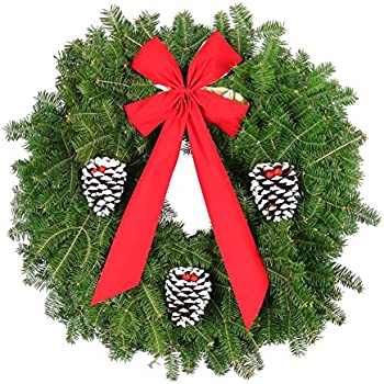 mickman brothers fresh real 25 classic christmas wreath