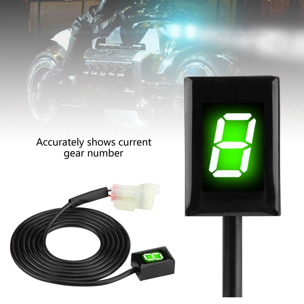 Indicador de Marcha de Motocicleta ECU Plug para Kawasaki 6 velocidades Digital con Pantalla LED