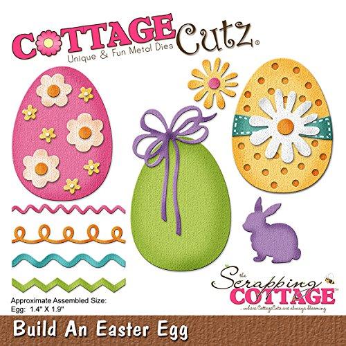 CottageCutz CC-233 Die-Build an Easter Egg, 1.4 Inches X1.9 (Egg Die Cut)