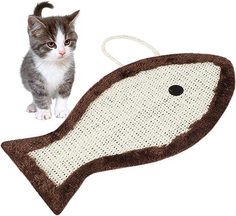 Runaup - Esterilla para rascar Gatos, Forma de pez, para Mascotas ...