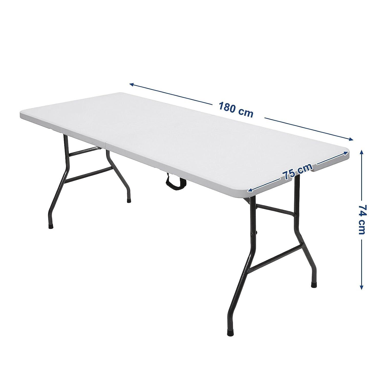 Pliante Plastique De Songmics Table Transportable Robuste trCshQd