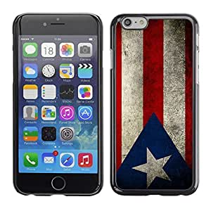 Graphic4You Vintage Puerto Rican Flag of Puerto Rico Design Hard Case Cover for Apple iPhone 6