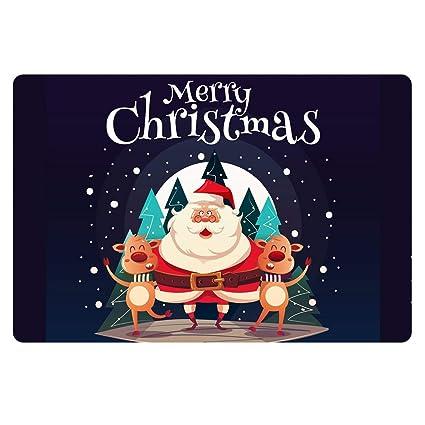 Christmas Carpet Runner.For U Designs Christmas Carpet Runner Santa Claus Reindeer Holiday Decor Stocking Stuffer Area Rug Welcome Doormat For Kitchen Living Room Dining Dorm