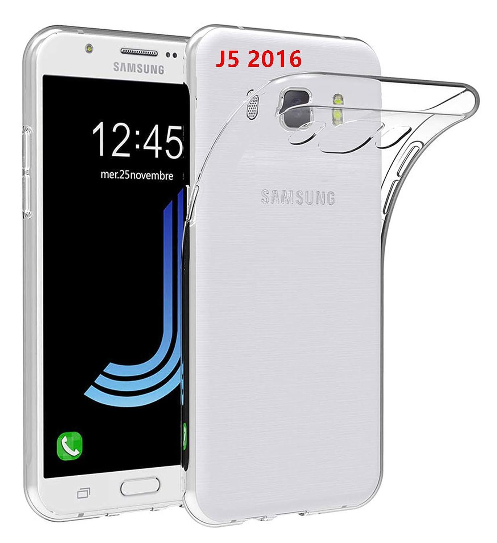 LUCKLYSTAR® Carcasa para Samsung Galaxy J5 2016 J510FN Slim Transparente TPU Silicona Funda Anti-Rasguño Anti-Golpes Protective Case para Samsung ...