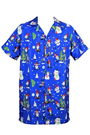 4e3b33406 SAITARK Mens Christmas Santa Xmas Hawaiian Shirt Hawaii Gift HIM Party  Holiday S to XXL: Amazon.co.uk: Clothing