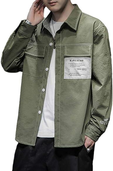 Camisa para Hombre Versión Coreana Talla Grande Suelta Casual ...