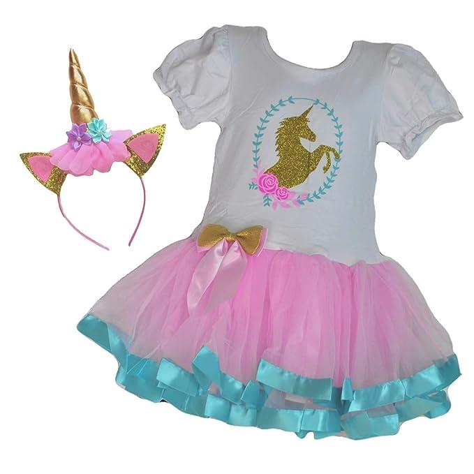 Amazoncom Vestido De Tutú Con Diseño De Unicornio De Té