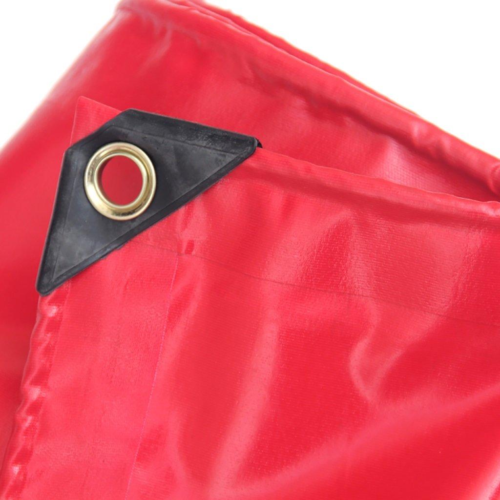 D_HOME  Rote PVC Wasserdichte Sonnenschutzplane (größe : 5  D_HOME 6m) 602e50